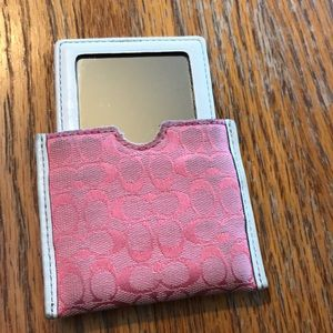Coach compact mirror with case
